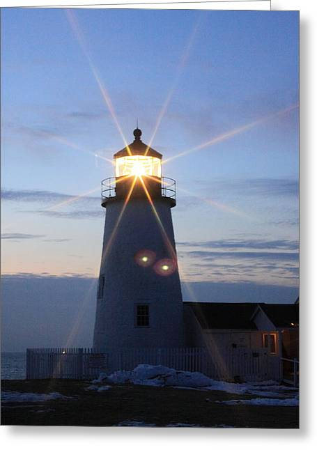 Seacape Digital Art Greeting Cards - Pemaquid Point lighthouse 2 Greeting Card by Tom Johnson
