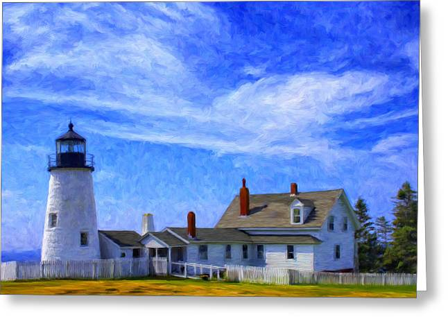 Recently Sold -  - Maine Lighthouses Greeting Cards - Pemaquid Point Lighthouse Greeting Card by Dominic Piperata