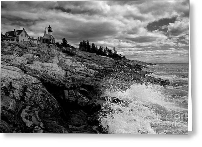 Photograpy Greeting Cards - Pemaquid Point Lighthouse Greeting Card by Keith Kapple