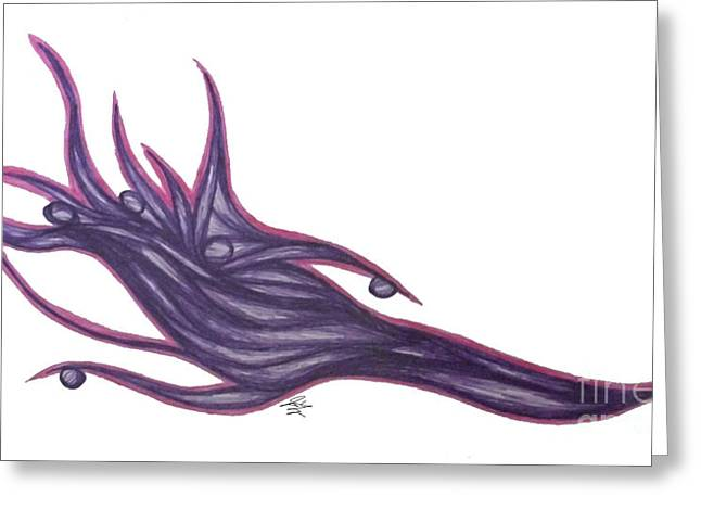 Imagination Drawings Greeting Cards - Pen VelvetWave  Greeting Card by Jamie Lynn