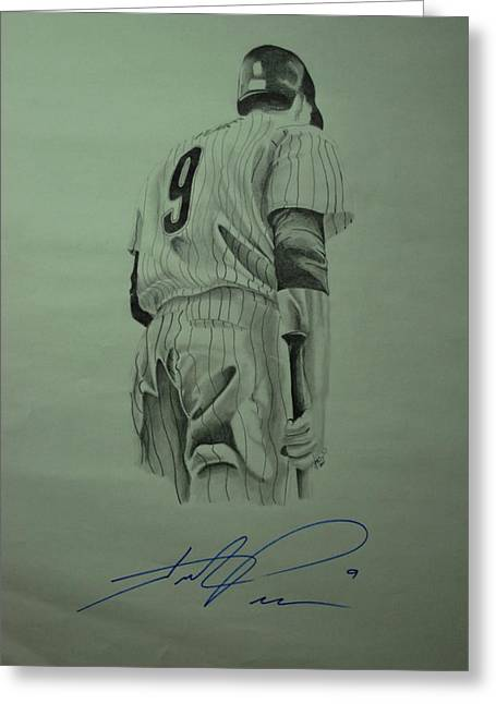 Phillies Drawings Greeting Cards - Pence 9 Greeting Card by Leo Artist