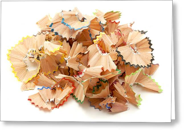 Cut-outs Greeting Cards - Pencil shavings Greeting Card by Fabrizio Troiani