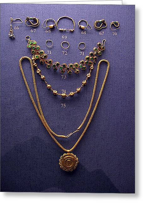 Pendant With Bracelet Greeting Card by Andonis Katanos