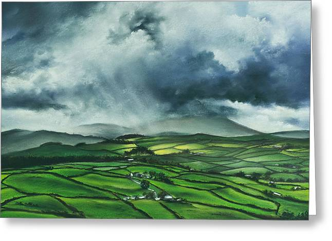 Tor Pastels Greeting Cards - Pendle Hill. Lancashire.England. Greeting Card by Jan Farthing