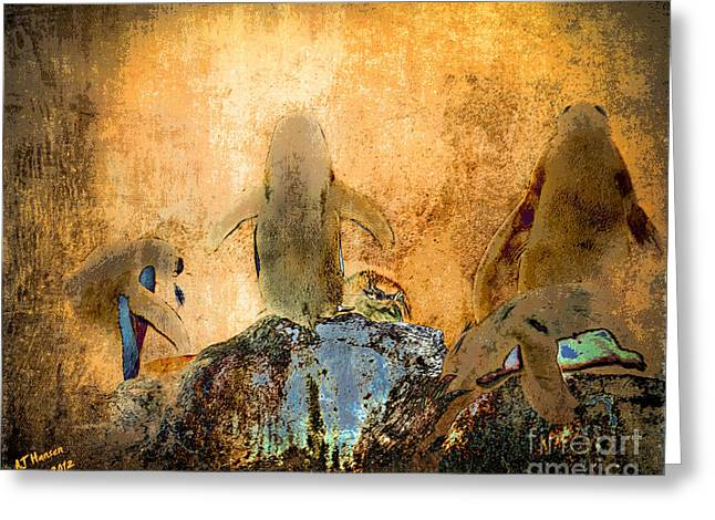 Pittsburgh Zoo Greeting Cards - Penguin Quorum Greeting Card by Arne Hansen