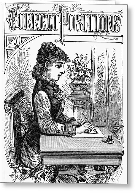 Manual Greeting Cards - PENMANSHIP MANUAL, c1880 Greeting Card by Granger
