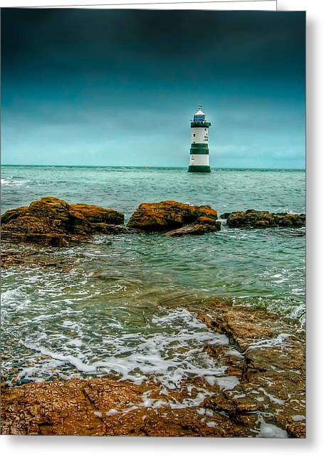 Puffins Greeting Cards - Penmon Point Greeting Card by Adrian Evans