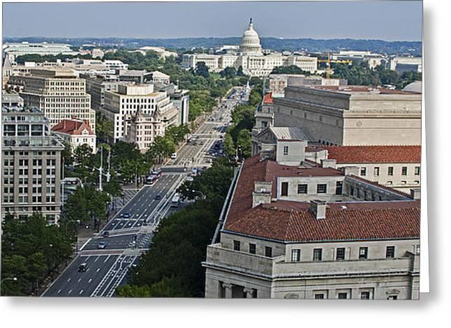 Us Capitol Greeting Cards - Pennsylvania Avenue - Washington DC Greeting Card by Brendan Reals