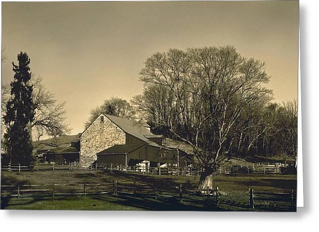 Pennsylvania Barns Greeting Cards - Pennsylvania Barn at Sunset Greeting Card by Gordon Beck