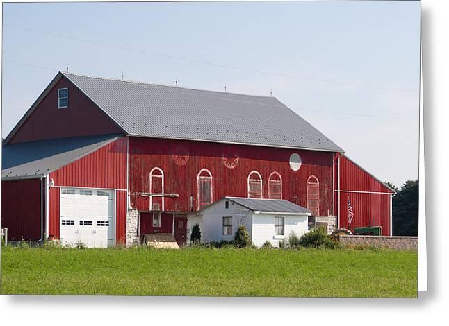 Lancaster Fine Arts Greeting Cards - Pennsylvania Barn Greeting Card by Jim Finch