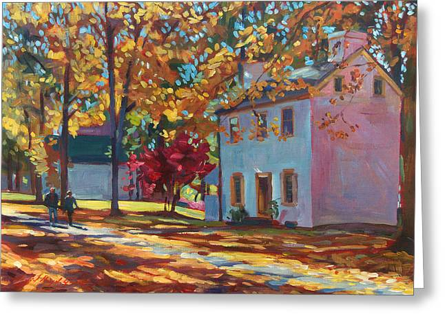 Fallen Leaves Greeting Cards - Pennsylvania Colors Greeting Card by David Lloyd Glover