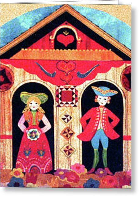 Amish Farms Mixed Media Greeting Cards - Pennsylvania Dutch Greeting Card by Linda Crockett