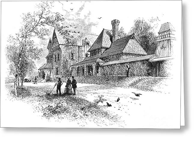 Bryn Mawr Greeting Cards - Pennsylvania: House, 1876 Greeting Card by Granger