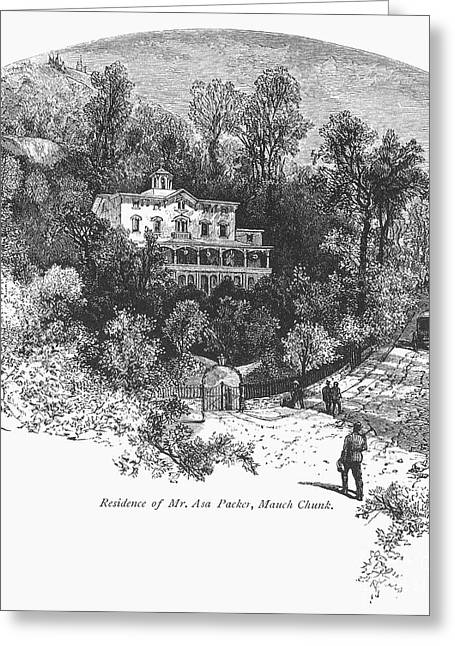 Country Dirt Roads Greeting Cards - PENNSYLVANIA: HOUSE, c1876 Greeting Card by Granger
