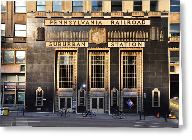Center City Greeting Cards - Pennsylvania Railroad Suburban Station Greeting Card by Bill Cannon