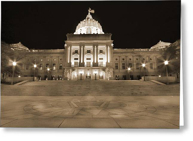Republican Greeting Cards - Pennsylvania State Capitol Greeting Card by Shelley Neff