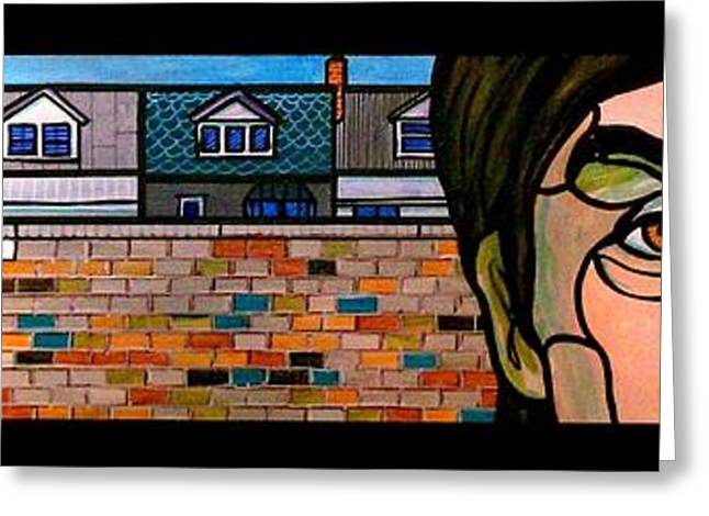 Glass Wall Greeting Cards - Penny Lane Greeting Card by Jim Harris