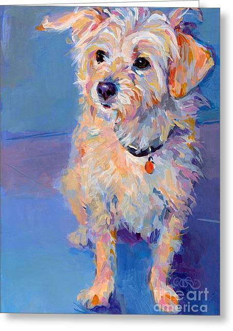 Breeds Greeting Cards - Penny Peach Greeting Card by Kimberly Santini