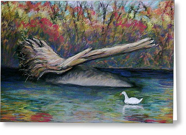 Phillies Pastels Greeting Cards - Pennypack Park Greeting Card by Marita McVeigh