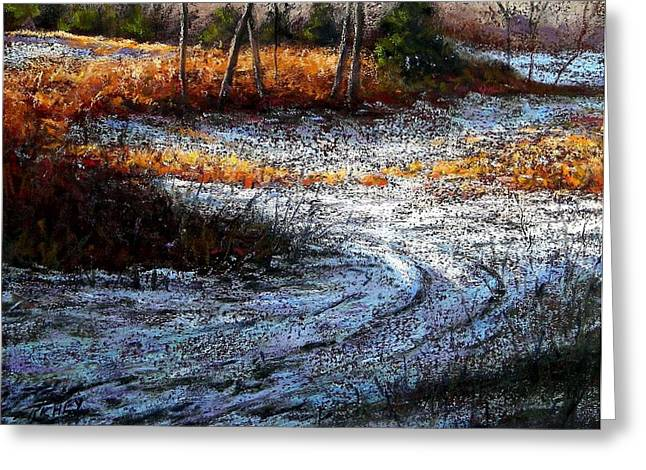 Winter Park Pastels Greeting Cards - Pennypack Woods in Winter Greeting Card by Bob Richey