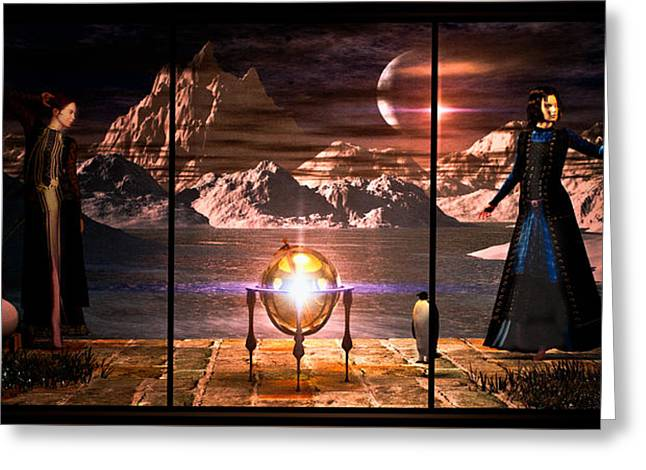 Wicca Greeting Cards - Penquin Magic Greeting Card by Bob Orsillo