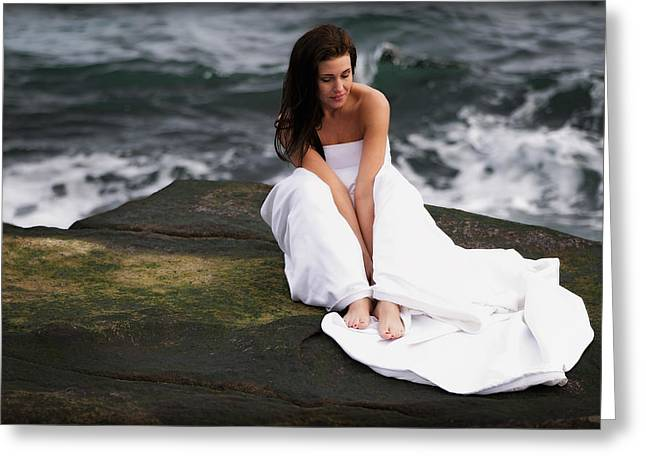 Romance Prints Greeting Cards - Pensive Greeting Card by Rick Berk