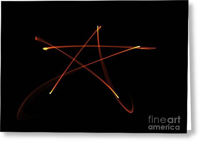 Pentagram Artwork Greeting Cards - Pentagram of Fire Greeting Card by Renee Trenholm