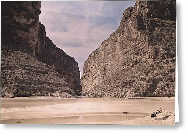 The Big Three Greeting Cards - People Relax Along The Rio Grande River Greeting Card by Luis Marden