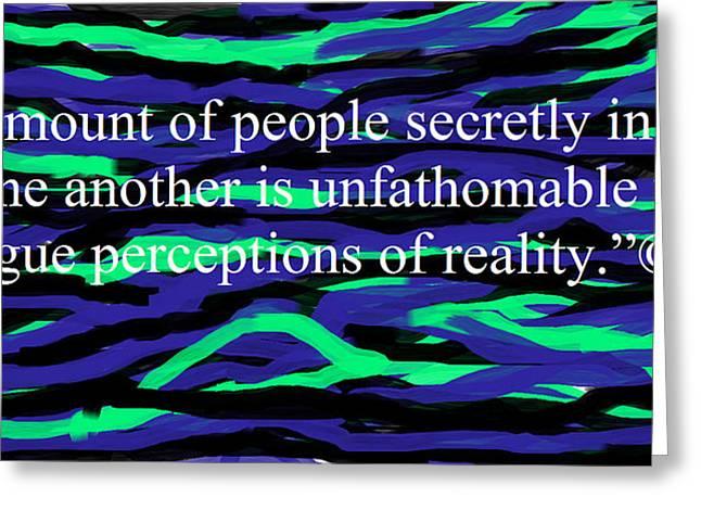 Secretly Greeting Cards - People Secretly In Love  Greeting Card by Karen L Fleming
