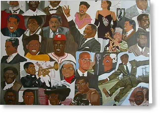 African American History Paintings Greeting Cards - Peoples Dream Greeting Card by Leslye Miller