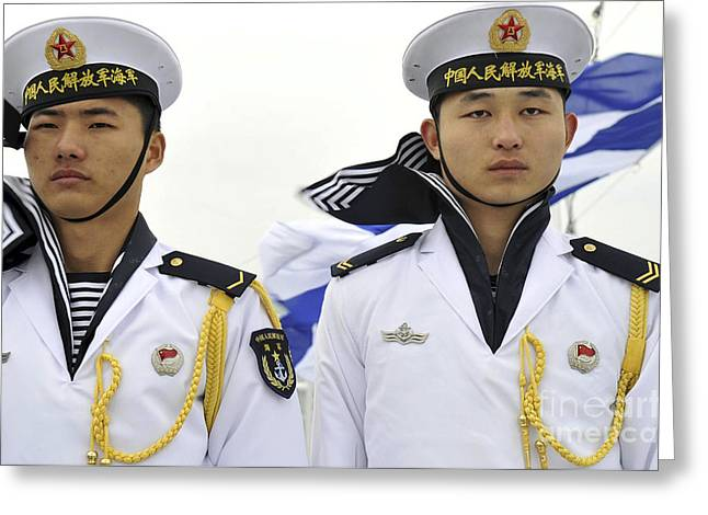 Peoples Liberation Army Navy Sailors Greeting Card by Stocktrek Images