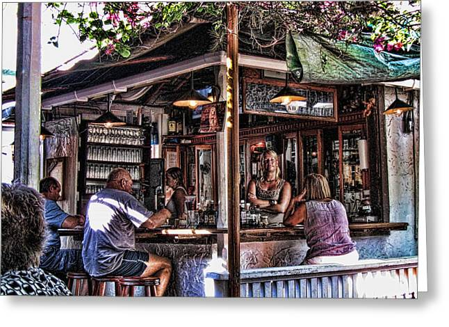 Key West Greeting Cards - Pepes Cafe Greeting Card by Joetta West