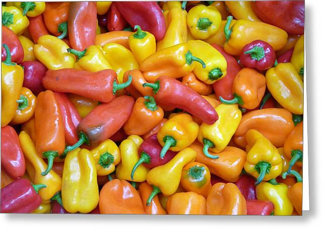 Peppers Greeting Card by David Bearden
