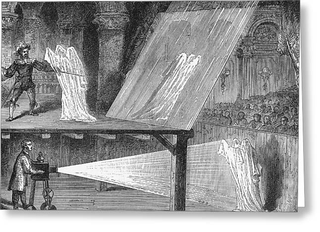 Ignorance Greeting Cards - Peppers Ghost Greeting Card by Science, Industry & Business Librarynew York Public Library