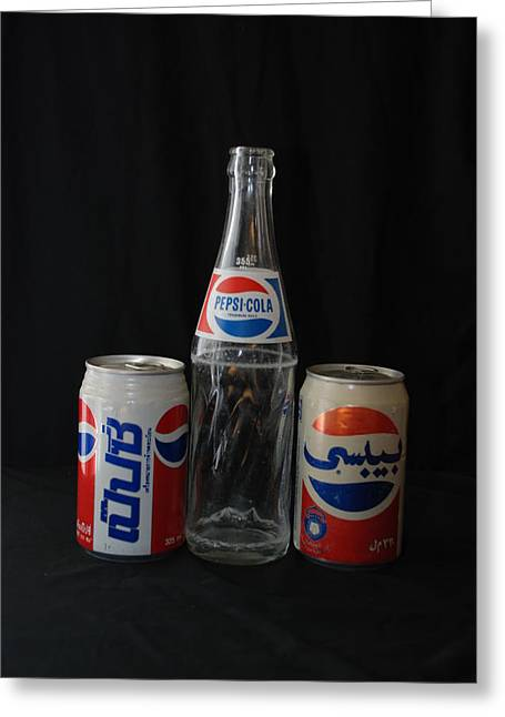 Pepsi Can Greeting Cards - Pepsi Cola Greeting Card by Rob Hans