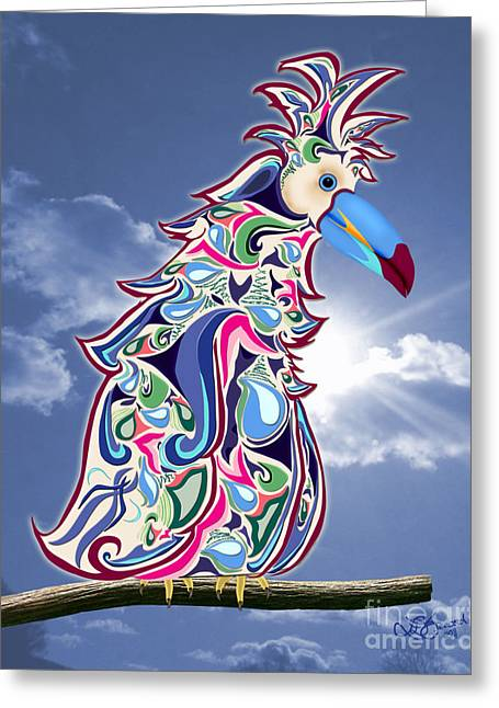 Linda Seacord Greeting Cards - Perched Greeting Card by Linda Seacord