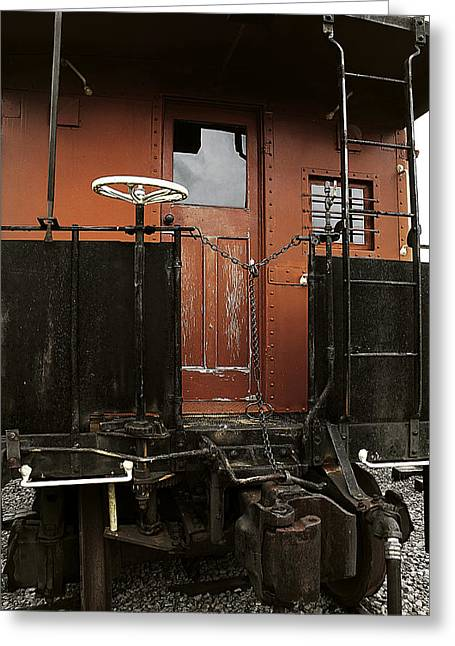 Caboose Greeting Cards - Pere Marquette Caboose Greeting Card by Scott Hovind