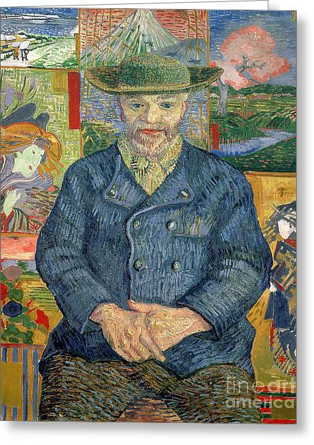 Art Dealer Greeting Cards - Pere Tanguy Greeting Card by Vincent van Gogh