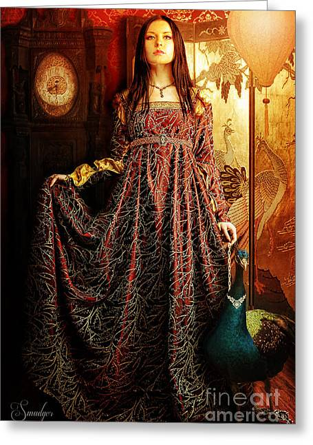 Lady Pyrography Greeting Cards - Perfect Accessory Greeting Card by Eugene James