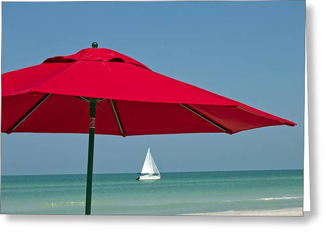 Perfect beach day Greeting Card by Elvira Butler