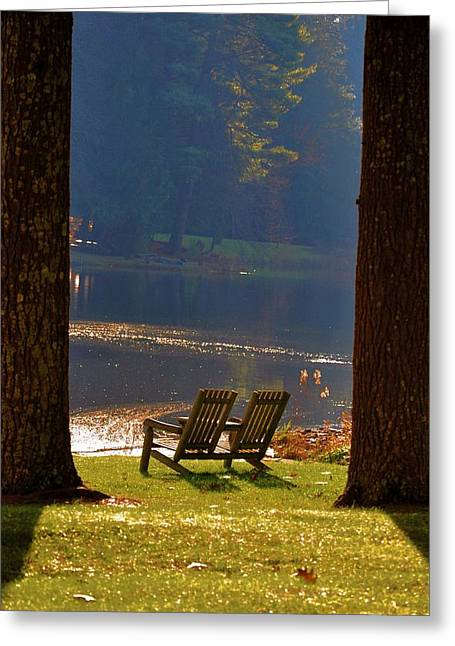 Perfect Morning Place Greeting Card by Bill Cannon