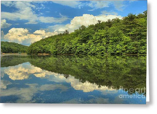 Reflection In Water Greeting Cards - Perfect Reflections Greeting Card by Adam Jewell