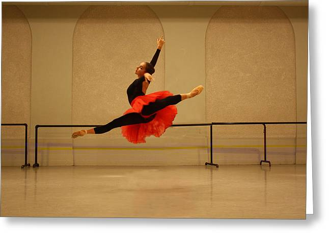 Ballet Dancers Photographs Greeting Cards - Perfection in Air  Greeting Card by Wendy Potocki