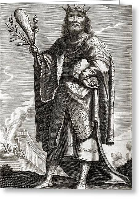 1656 Greeting Cards - Periander, Greek Tyrant Greeting Card by Middle Temple Library