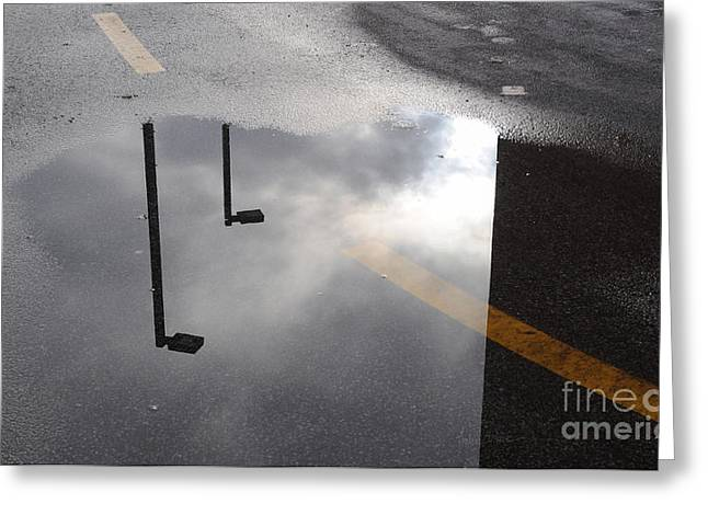 Puddle Greeting Cards - Periscopes Greeting Card by Luke Moore