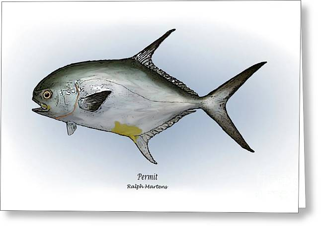 Permit Greeting Card by Ralph Martens