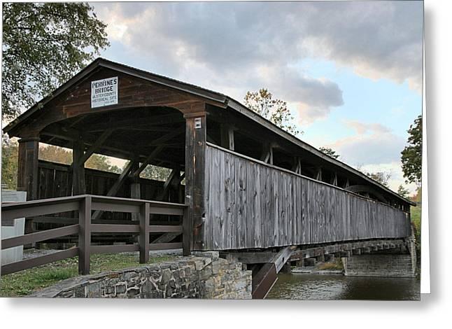 Covered Bridge Greeting Cards - Perrines Bridge Greeting Card by DJ Florek