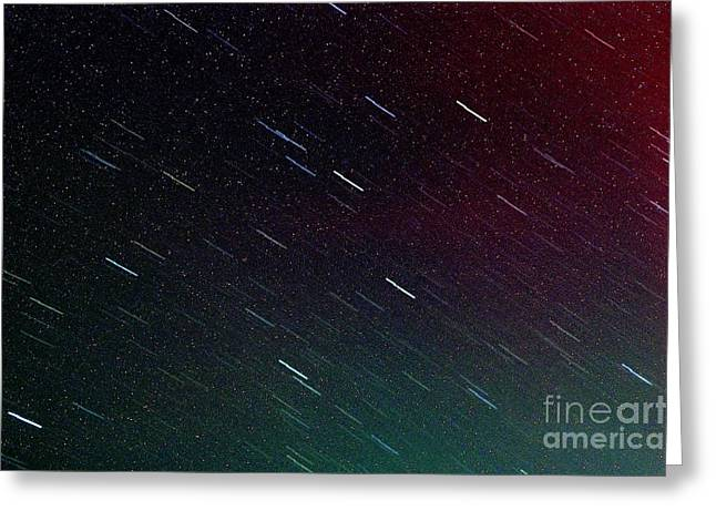 Perseid Meteor Shower Greeting Card by Thomas R Fletcher