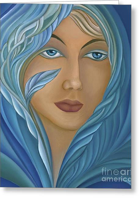 Recently Sold -  - Inner Self Paintings Greeting Cards - Persephone Greeting Card by Joanna Pregon
