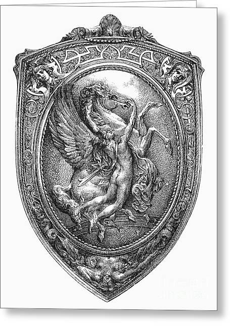 Tamer Greeting Cards - Perseus And Pegasus Greeting Card by Granger